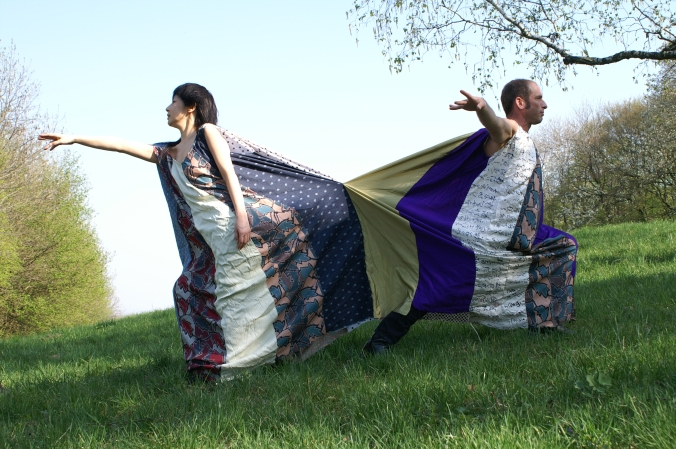 Double dress project still featuring Joshua Korn and Akemi Takeya, Vienna.