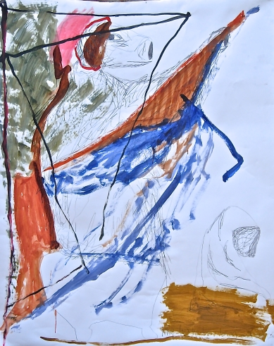Acrylic and pencil on paper180cm x 152cm