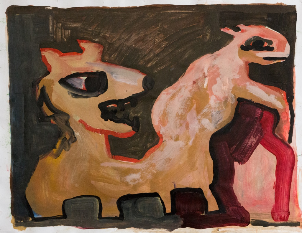 Two or One Acrylic on paper