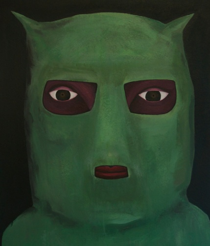 Green Hooded Figure Acrylic on Canvas 60cm x 70cm 2015