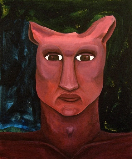 Pink Ears Acrylic on canvas 65cm x 70cm